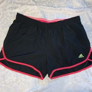 Women's Adidas workout shorts size large